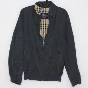 VTG Burberrys Plaid Lined Full Zip Jacket L304